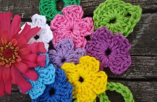 Вязание крючком цветов для начинающих.