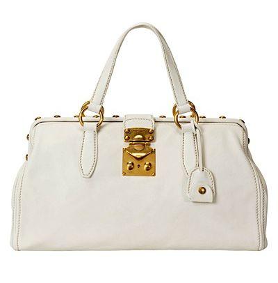 Miu Miu, мягкая сумка, белая сумка, стильная сумка