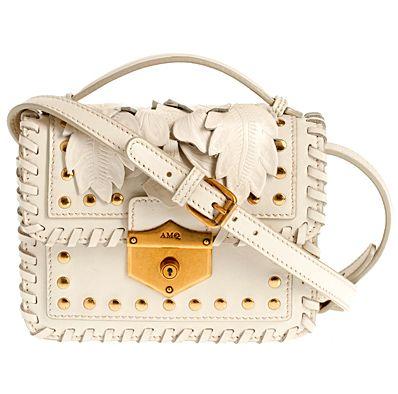 Alexander McQueen, стильная сумка, белая сумка