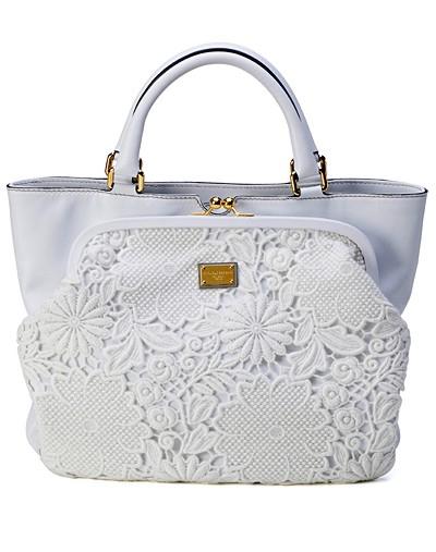 Dolce&Gabbana, сумки, белая сумка, кружево