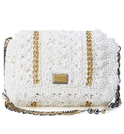 Dolce&Gabbana, белая сумка, кружева