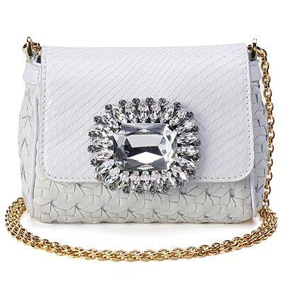 Dolce&Gabbana, белая сумка, кружева, золотая цепочка